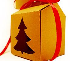 Caixinha natalina de papel pardo