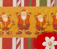 Cartão natalino com Papai Noel