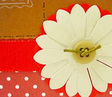 Cartão natalino com flor