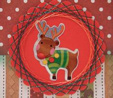 Cartão natalino com rena