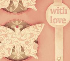 """Cartão """"With Love"""""""